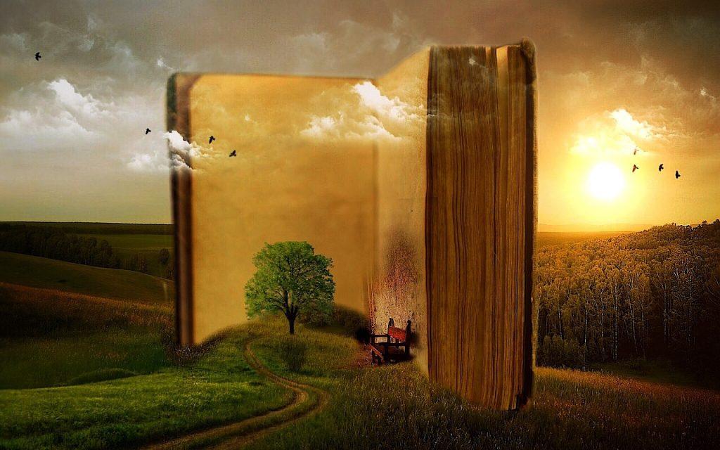 Composición de libro en naturaleza