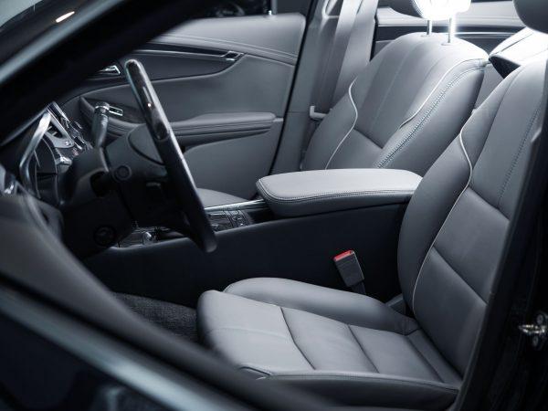 Car Interior Driver Side View. Modern Car Interior Design.