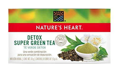 Nature's Heart Té Verde Naturalmente Antioxidante, 34 g, 20 Sobres