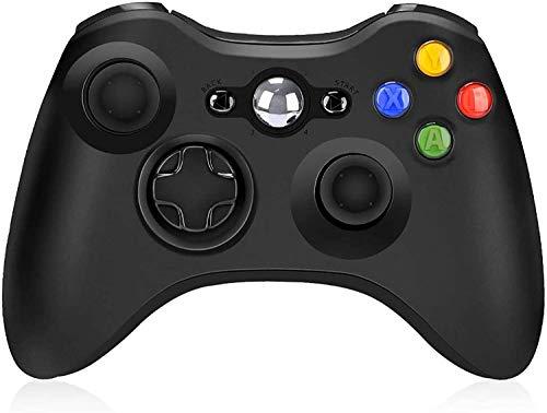 Mando inalámbrico para Xbox 360, mando a distancia inalámbrico de 2,4 GHz, mando a distancia para Xbox/Slim 360 PC Windows 7/8/10 (negro)