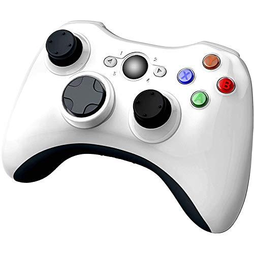 YCCSKY - Mando inalámbrico para Xbox 360, 2,4 GHz, mando a distancia inalámbrico, mando a distancia, 360 grados, para Microsoft Xbox 360 Slim y PC con Windows 7/8/10 (no para Xbox One), color blanco