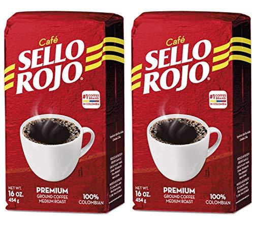 Café Sello Rojo   Café suave y sabroso de baja acidez sin sabor amargo o acidez cardíaca   Café colombiano molido en tostado medio   Cafe de Colombia, Ladrillo, 2-Brick-Red, Paquete-de-2