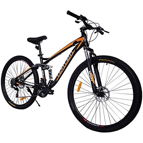 CENTURFIT Bicicleta Aluminio R29 21 Velocidades Naranja Shimano Bicicleta Aluminio Montaña Rodada 29 Bicicletas Montaña 29 Aluminio Bici Montaña r29 Color Naranja