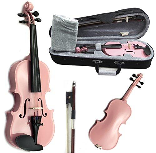 SKY Brand New Children's Violin 1/16 Size Pink Color