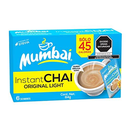 Mumbai, Té Chai Mumbai instantáneo Light 6 Sobres, 84 gramos