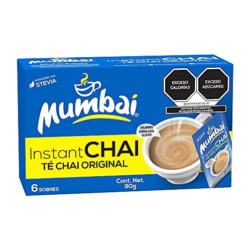 Mumbai, Té Chai Mumbai instantáneo Original 6 Sobres, 90 gramos