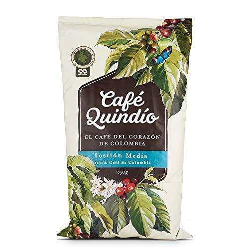 Café Quindío Consumo Superior Tostado Medio Molido 250 g / 8.8 oz / 0.6 lb., El Café del Corazón de Colombia, 100% Café Arábico Colombiano, de Cultivo Artesanal, Tostado y empacado en Origen.