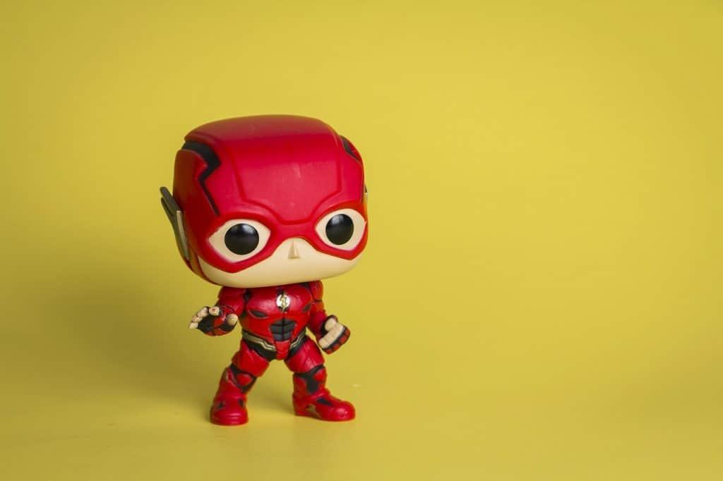 Na foto um Funko do Flash.