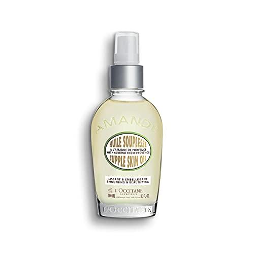 L'Occitane suavizante y embellecedor aceite corporal de almendra flexible, 3.3 onzas líquidas