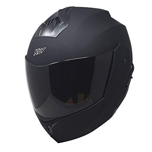 Casco para moto Kov Stealth Negro Matte Abatible Todas las tallas certificacion DOT (L)