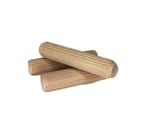 Taquete De Madera Estriado 6x30 (1/4) para Unión de Muebles, Industria Mueblera y Tapicería Pack de 100 pz