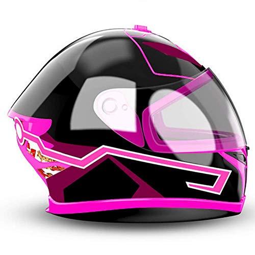 Casco de Moto Luz LED, Luz Fría Moda Personalidad DIY Conducción Nocturna Señal de Seguridad Intermitente Tira de Luces 2PCS Rosa, Rojo, Blanco,Pink