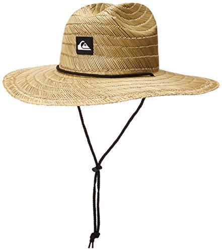 Quiksilver Pierside Lifeguard - Sombrero de Paja para Hombre, Natura/Negro, Small-Medium