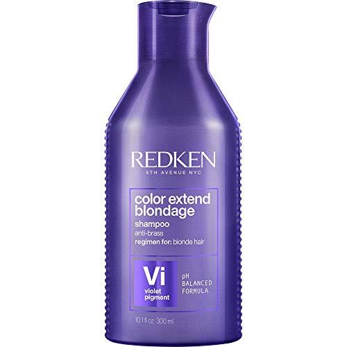 Redken Shampoo Matizador Morado para Cabello Rubio 300 Ml, Color Extend Blondage