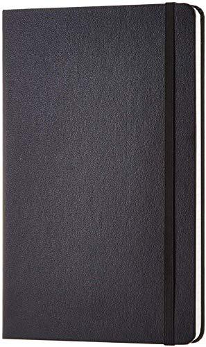 Amazon Basics - Cuaderno clásico de 120 hojas, color negro, cuadriculado