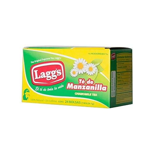 Laggs Laggs Te Sobre sabor Manzanilla 24 sobre de 1 Gr, Manzanilla, 24 gramos