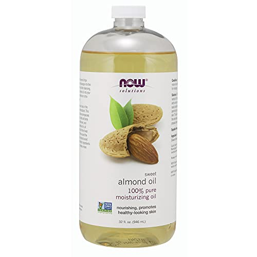 NOW Solutions | Aceite de almendra dulce, Aceite hidratante 100% puro, promueve la piel de aspecto saludable, aceite sin aroma, 32 onzas | Sweet Almond Oil