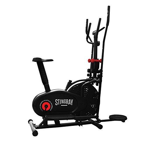 Stingray Bicicleta Eliptica 3 en 1 Computador 7 Funciones - Negro - Unitalla