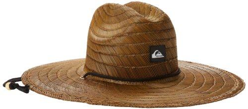 Quiksilver Pierside Lifeguard - Sombrero de Paja para Hombre, Café Oscuro, Large-X-Large