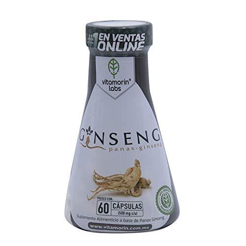 Ginseng Orgánico 60 Cápsulas de 500mg Marca VITAMORIN
