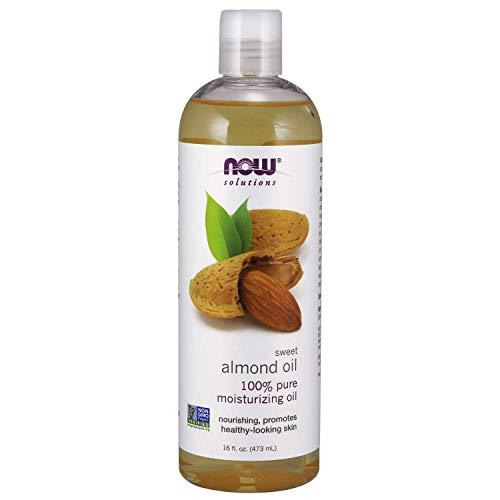 Aceite de Almendras Dulces de NOW | Aceite Hidratante 100% Puro | Promueve una piel de aspecto saludable | Paquete de 1 | 473 ml
