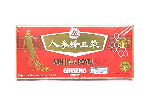 Ginseng Royal Jelly 10 Ampolletas De 10 Ml Sanjing.