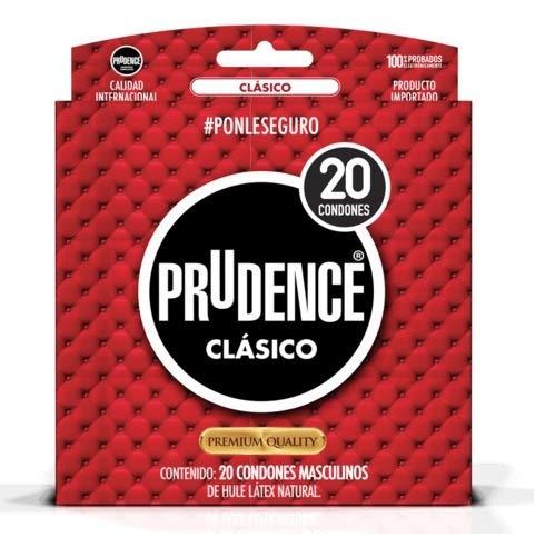 Prudence Preservativo Clásico, Paquete Con 20 Condones, Pack of 1