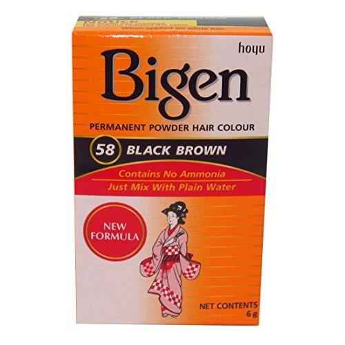 Tinte bigen polvo negro natural Tono 58 6 gr