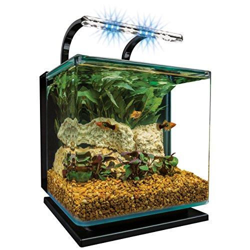 MarineLand Kit de Acuario con luz, Almohadilla de espuma, 11 litros