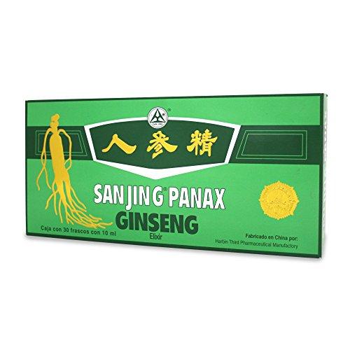 Sanjing Ginseng Sanjing Panax Elixir, 30 Frascos ( 10 ml c/u)