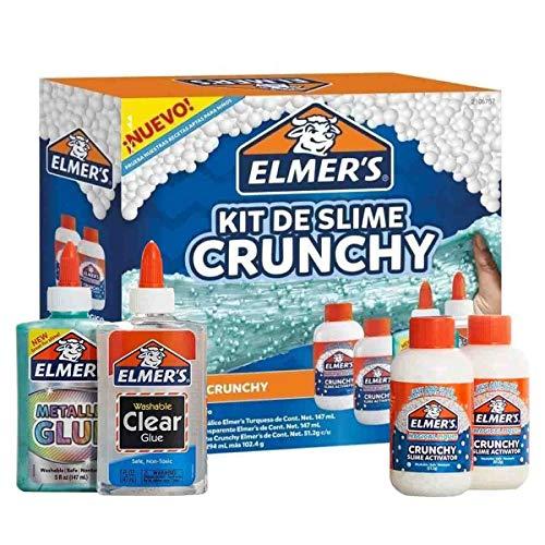 Elmer's Kit de Slime Crunchy, 4 piezas