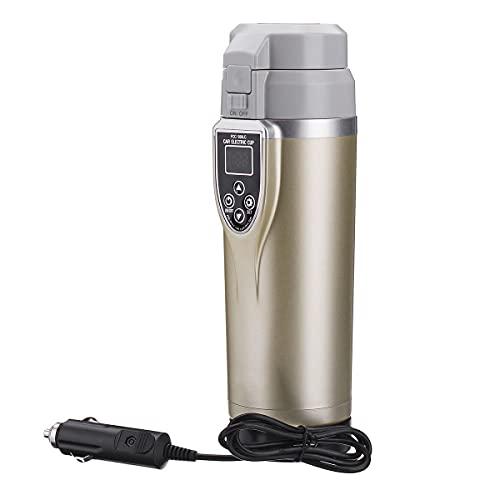 A-hyt Hervidor eléctrico portátil 12-24V 350 ml Copa de calefacción de vehículos de Sonido Temperatura Ajustable Taza de ebullición de Coches Galvánicos Terero de vehículos de ebullición Apariencia e