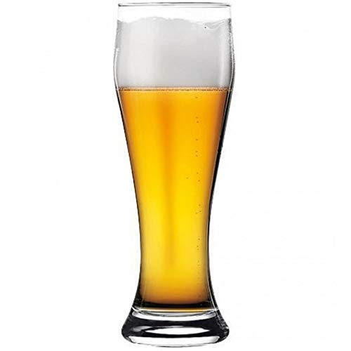 Pasabahce, Vaso Para Cerveza de 520ml 17.25oz Modelo Weizenbeer & Pils set de 6 vasos (origen Turquía)