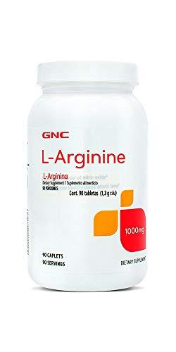 GNC, L-Arginina, 1000 mg, 90 tabletas