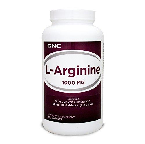 GNC L-Arginine 1000 mg, 180 tabletas, empaque puede variar