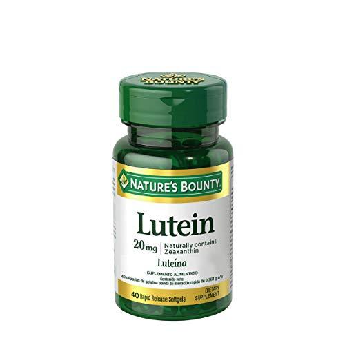 Nature´s Bounty Luteína 20Mg, 1 Pieza con 40 Softgels