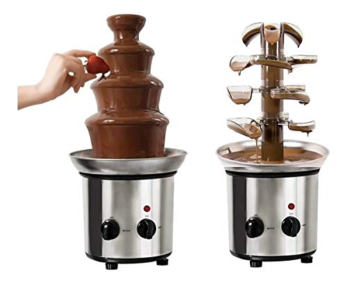 Fuente de Chocolate Chamoy Queso 4 niveles 2 en 1 opción de Torre y Cascada