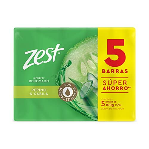 ZEST Jabón de tocador vitalidad pepino 5 pack de 100 g cada barra