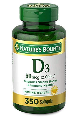 Nature's Bounty Vitamin D3 2000 IU, 350 Softgels