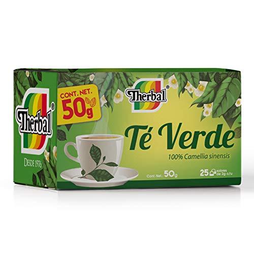 Therbal, Té Verde 25 sobres, 50 gramos.