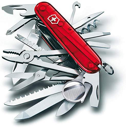 Victorinox Navaja Swisschamp, Roja Transparente, 33 Usos