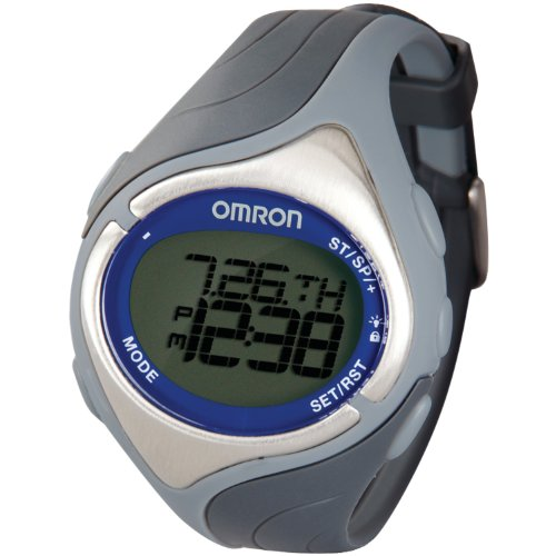 Omron Healthcare HR-210 heart rate monitor - Monitor de ritmo cardíaco (Blue, Silver, White, CR2032)