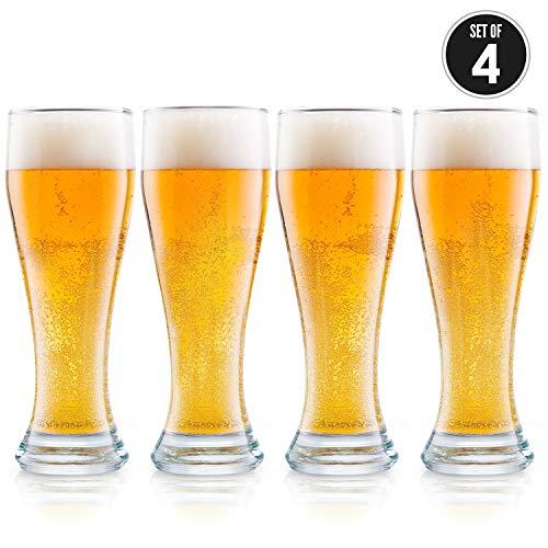 Vasos de cerveza nucleados, Pilsner 4 Pack