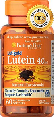 Luteina de Puritan's Pride   Con Zeaxantina   40 mg   60 Cápsulas Suaves