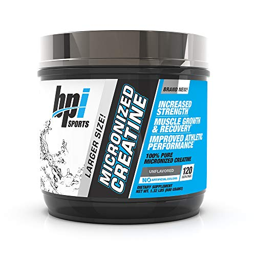 BPI Sports Micronized Creatine, Unflavored, 600 Grams, 120 Servings